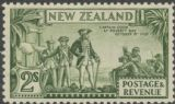 NZ SG589d 2s Captain Cook at Poverty Bay perf 12½